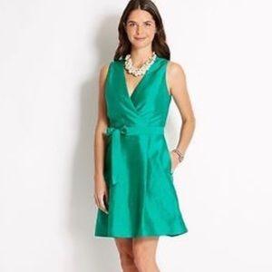 Vineyard Vines Green Silk Midi Dress NEW 10